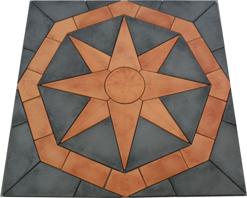 2400mm Octagonal Compass Kit Slate Grey and Terracotta